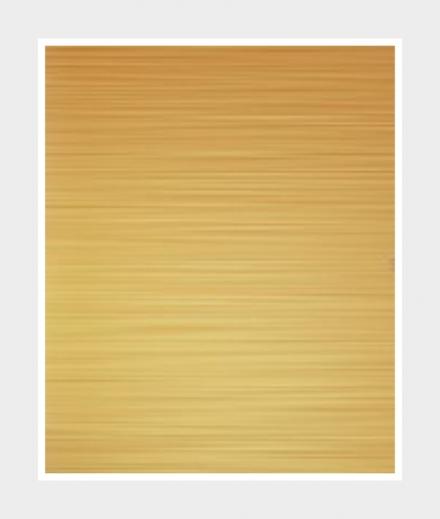 Sticker auf gebürsteter Goldfolie