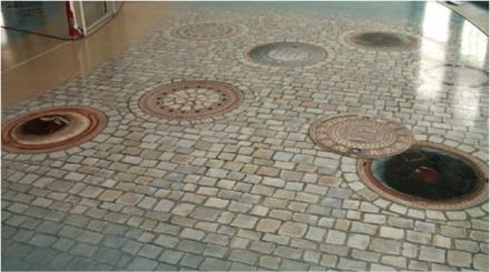 Aufkleber für Fußböden