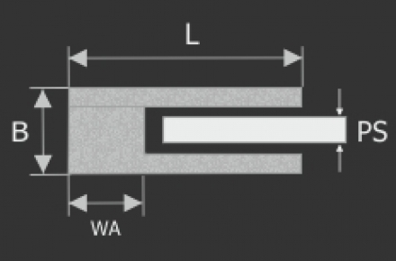 Glasklemme Edelstahl 35x28,5mm - 4,89 €