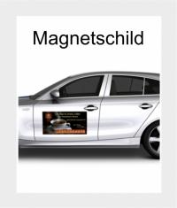 2 Stück Magnetschilder für PKW