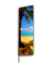 Beachflag mit Auslegerarm