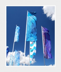 Hochformat-Fahne 120x300cm