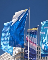 Hochformat-Fahne 150x400cm