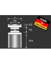 Sandwichplattenhalter Edelstahl D=15mm - 3,55 €